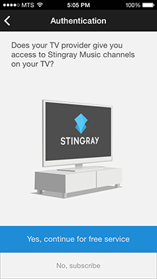 how to access the stingray music mobile app mts. Black Bedroom Furniture Sets. Home Design Ideas