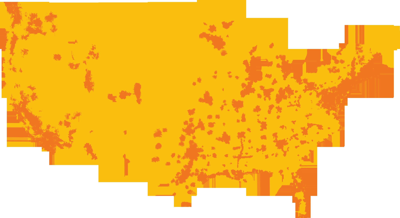 US MTS - At andt service map