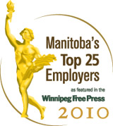 Manitoba's Top 25 Employers as featured in the Winnipeg Free Press