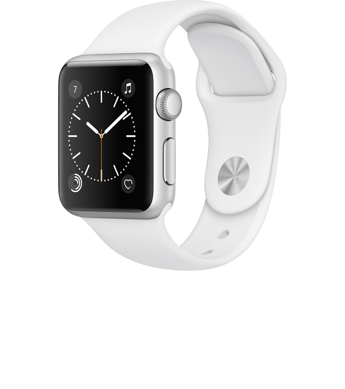 Apple Watch 38mm Silver Aluminum White Band
